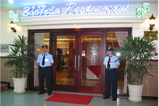 Professional security service in Restaurant
